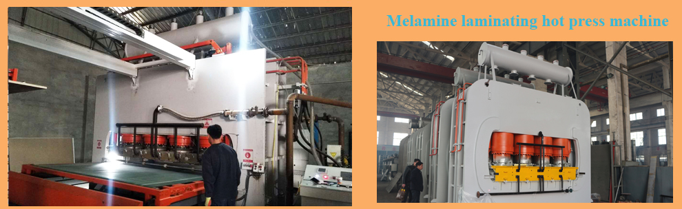 melamine laminating hot press machine