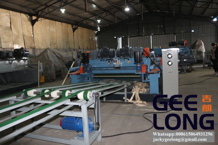 spindleless veneer peeling machine line